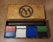 MTG Play mat (Playmat) Deck Box, Magic the Gathering Organizer, Card Case Storage Box, Kaijudo Custom Card Storage Case