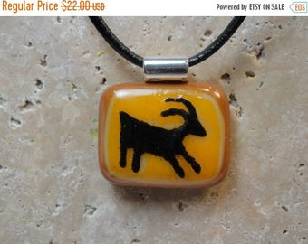 Christmas in July Sale Petroglyph Pendant-Fused Glass - BHS01313