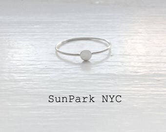 Silver Dainty Stackable Ring/Delicate Ring/Silver Midi Ring/Gold Ring/Silver Ring/Handmade Ring/