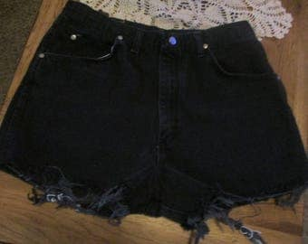 Wrangler vintage Cut off JEAN SHORTS Cut Off W 34 Measured Hot Pants High Waisted