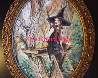 Mabon Spirit Original Watercolor