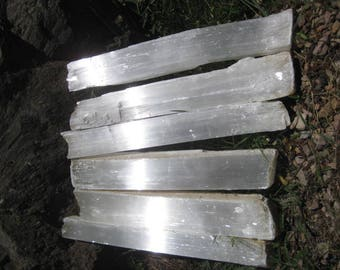 Selenite Fireplace logs - Kindling size -  FREE SHIPPING - 6 crystal Logs - all included