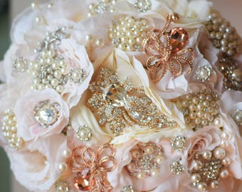Brooch Bouquet Ready to Ship English Garden Bouquet