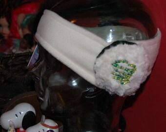 Scream Queens Inspired Chanel Number 3 earmuff headband