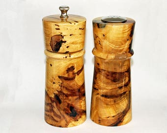 Pepper Grinder, Peppermill, Pepper Mill Gift Set made with Spectacular Maple Burl