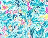 Various sizes of Serene Blue Tippy Top cotton poplin  ~Authentic Lilly Pulitzer Fabrics~