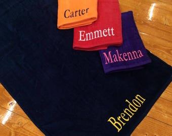 LG Personalized Beach Towel, Monogrammed Beach Towel, Bridesmaid Gift, Groomsmen Gift, Monogrammed Towel, Personalized Graduation Gift