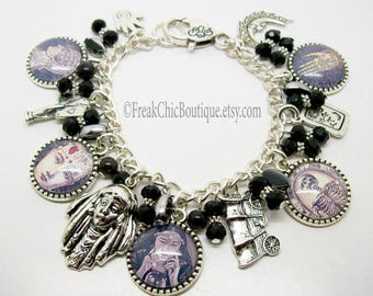 Fortune Teller Charm Bracelet, Gypsy Fortune Teller, Mystic, Palmistry, clairvoyant, Unique Gift