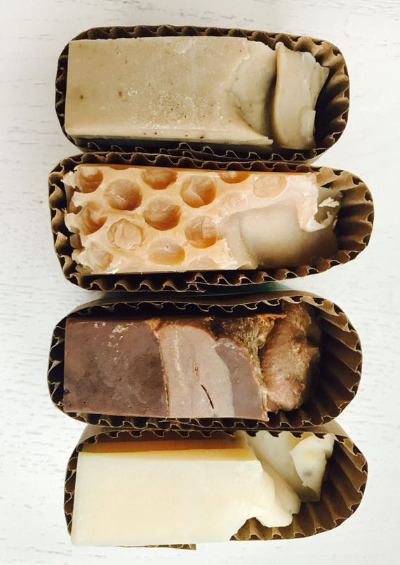Set of Four Handmade Soap - gift idea - gift for him - for her - holiday - Soap Set - homemade soap