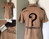Vintage bowling shirt King Louie Hella cool rockabilly swing dance polo shirt monogrammed Fort Lauderdale Florida