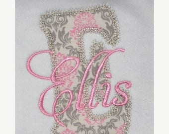 ON SALE Decorative Embroidery Applique Font - INSTANT Download