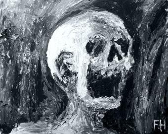 Bury Me - Original Mixed Media Horror Painting by Frank Heiler