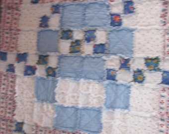 Handmade Cotton Flannel Rag quilt