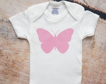 Butterfly Onesie®, Baby Shower Gift, Coming Home Outfit, Take Home Outfit, Newborn Girl Onesie, Butterfly Nursery Decor, Butterfly Outfit