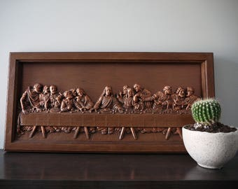 The Last Supper, Wall Plaque Art, Cooper Home Decor, 3D Jesus