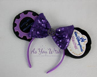 Carousel of Progress Ears custom made to order with name tag with Great Big Beautiful tomorrow on back