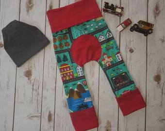 Maxaloones ~ Grow With Me Pants ~ Toddler Around the Town City Play Trousers