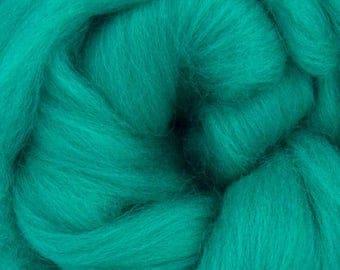 Jade Merino Wool Top - 23 Mic 64's -  Needle Felting - Spinning - Wet Felting - Nuno Felting - Wet Felting