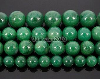 Natural African Verdite Jade Gemstone Round Beads 15.5'' 4mm 6mm 8mm 10mm 12mm Strand Great For Jewelry Design