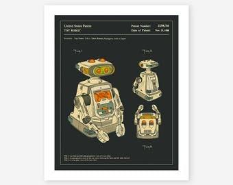 ROBOT PATENT 1985 (Giclée Fine Art Print/Photo Print/Poster Print) dark version