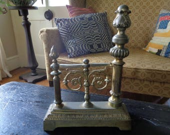 Vintage Fireplace Firedog, Vintage Architectural Decor