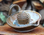 Pitch Pine Pottery Stoneware Citrus Juicer- Shimmering Woods