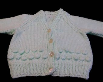 Baby Jacket with Bobble Trim Border