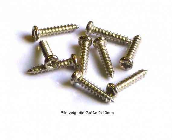 Fillister Head screw 1 x 3 mm, nickel plated steel, MS 798113 for the Doll House, dollhouse miniatures, Nativity scenes, miniatures, model construction