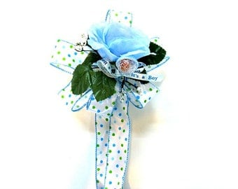 Baby shower gift bow, Gift wrapping bow, Baby shower bow, Baby boy gift bow, New baby bow, Gift for new moms, Its a Boy gift bow