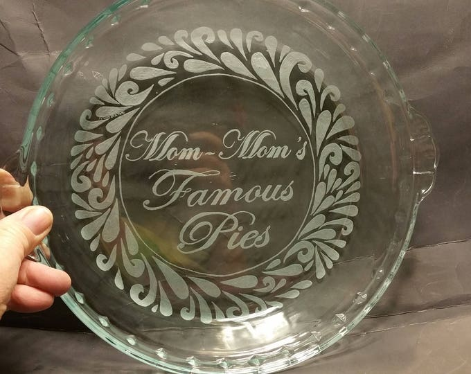 Hand engraved 9.5 inch Pie Plates