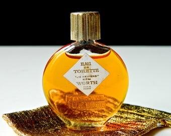 Vintage Worth JE REVIENS Perfume .25 oz (7.5 ml) Eau de Toilette Full and Untouched Gift Bag