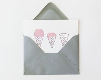 Birthday Card Set of 4 Blank Note Cards