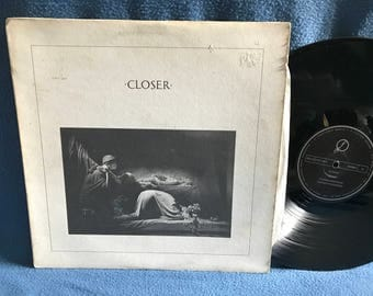 "RARE, Vintage, Joy Division - ""Closer"" Vinyl LP Record Album, 1980 Original First Press, Italy Import, Factory Records, Fact XXV, Isolation"