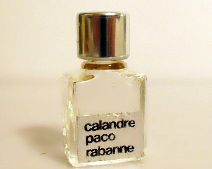 Vintage 1970s Calandre by Paco Rabanne Micro Mini Parfum Miniature Perfume
