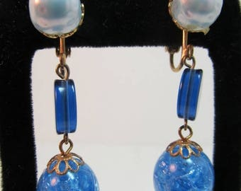 ON SALE 1960s Bauble Dangle Earrings Item K # 114