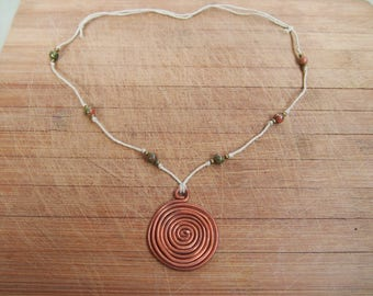 Spiral Crystal Talisman Necklace