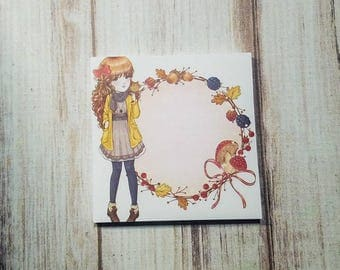 Fall Leaves sticky notes pad