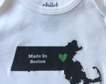 Made in Boston Baby Onesie