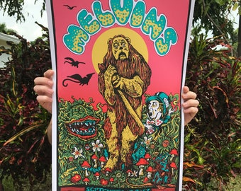 Melvins Cowardly Lion in Fort Lauderdale print