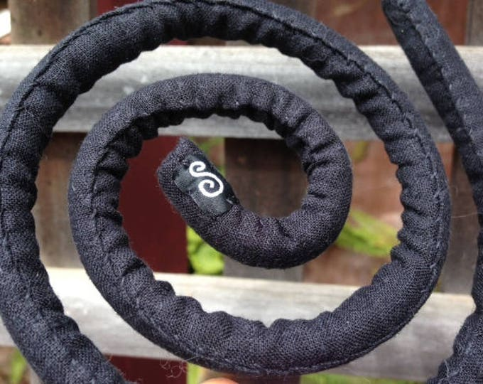SpiraLocks Black Hemp Bendable Wire Dread Tie 60cm - Vegan