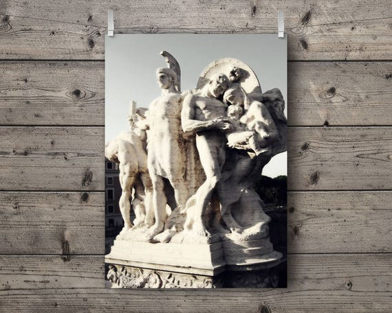 Allegorical No. 2 / Statues On The Tiber River / Rome, Italy / Italian Travel Photography Print / Roman Architecture Wall Art / Neoclassical