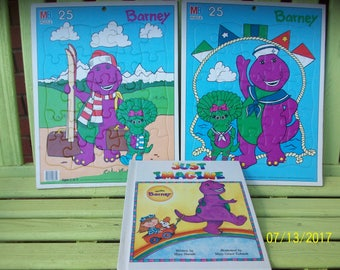 Two Barney Puzzles and Barney book  Just Imagine  ...  sc 1 st  Etsy & Baby bop | Etsy