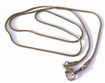 Wholesale 10 of 20 inch antique bronze finish brass made snake necklace chain-BB140