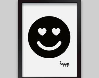 Happy Smiley face print