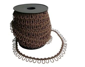 Chocolate Brown Elastic Bridal Button Loops