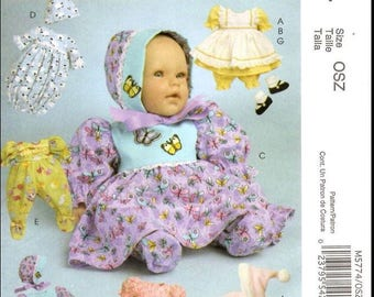 McCall's 5774 Baby Doll Wardrobe Pattern Doll Sizes 11-16 inches. New Uncut FF