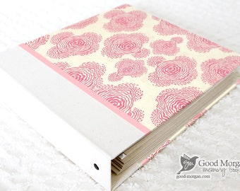 0 to 12 months Baby Memory Book - Floral Blush