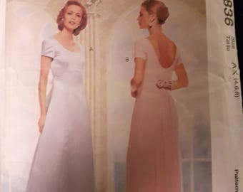 McCalls 8836, Evening Gown Sewing Pattern