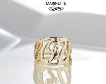 "The ""Love"" ring - solid 14K gold"