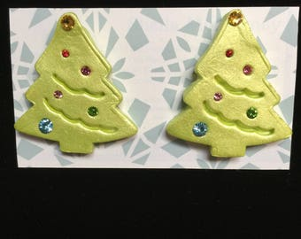 Retro Jeweled Christmas Trees